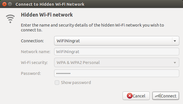 Connect to Hidden Wi-Fi Network